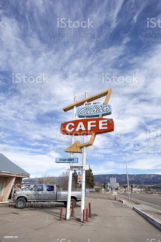 retro cafe sign stock photo