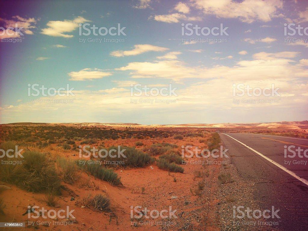 Retro California Highway stock photo