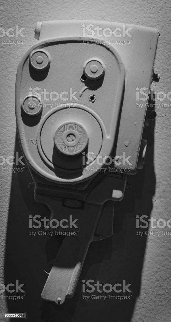 Retro Camera. Retro cameras hang on the wall as decoration stock photo