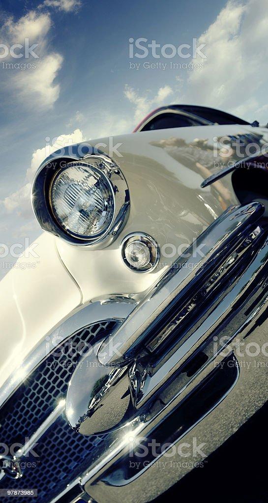 Retro car - American classics royalty-free stock photo