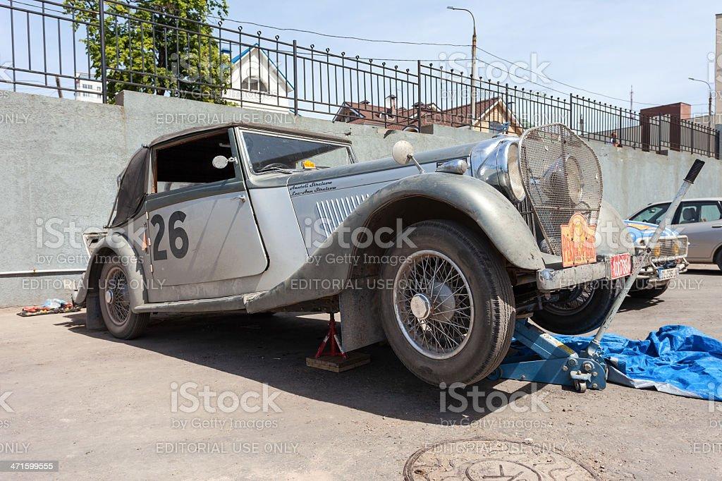 Retro car Bentley Drophead 1936 year stock photo