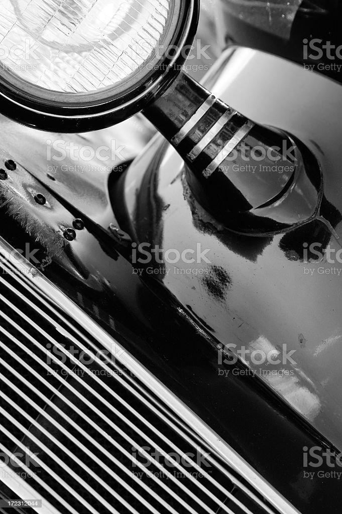Retro car in B&W royalty-free stock photo