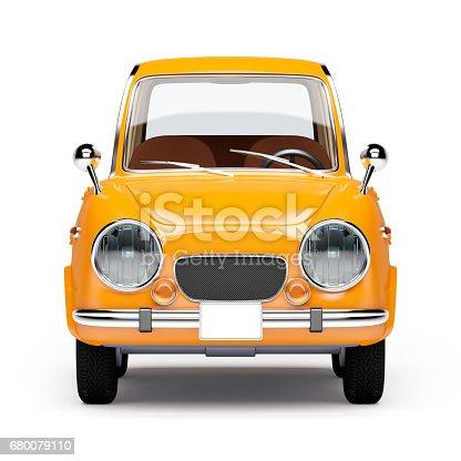 istock retro car orange 1960 680079110