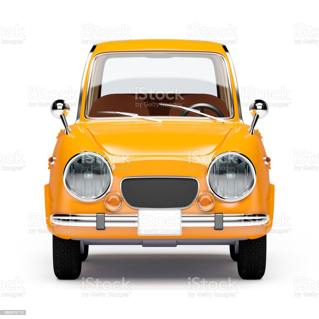retro car orange 1960 stock photo