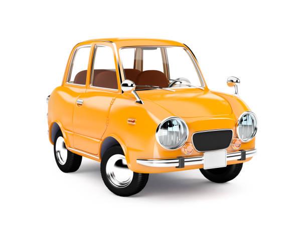 復古車橙色 1960 - 卡通 個照片及圖片檔