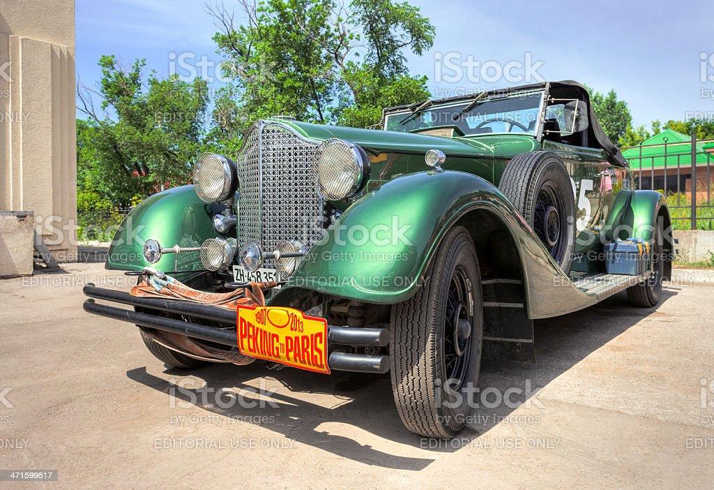 Retro car Packard Convertible 1934 year royalty-free stock photo