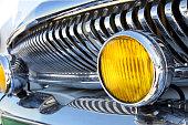 Retro car, close up.