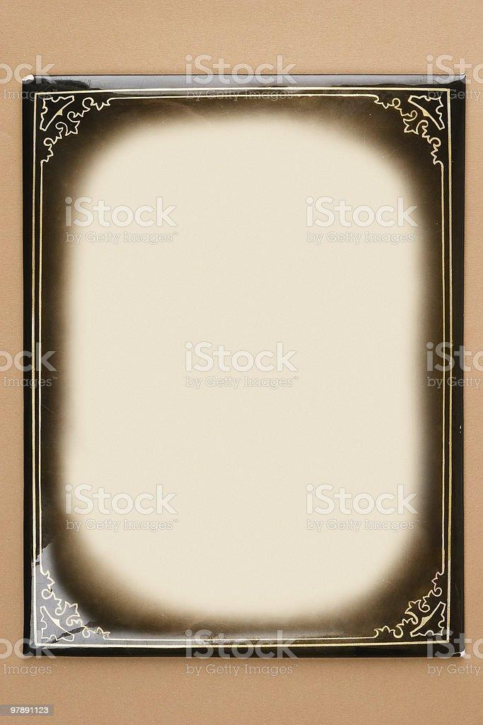 Retro cardboard photoframe royalty-free stock photo