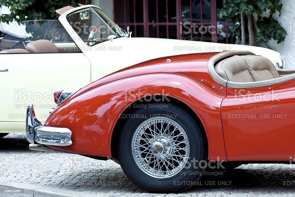 Retro cars at the street royalty-free stock photo
