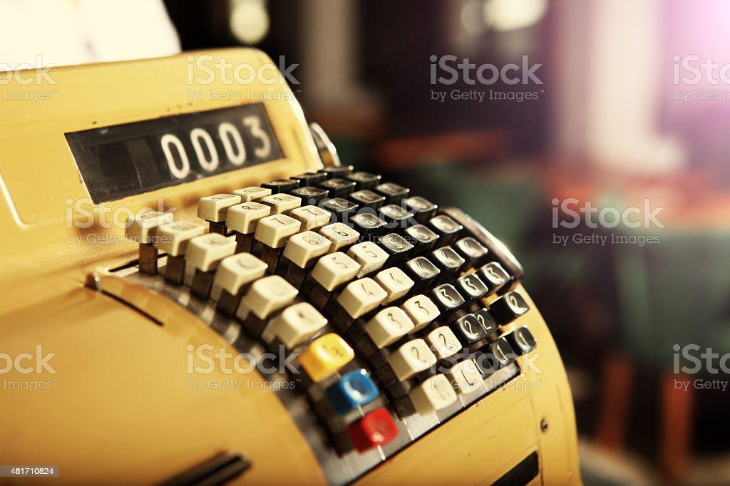 Retro de caixa registradora - foto de acervo