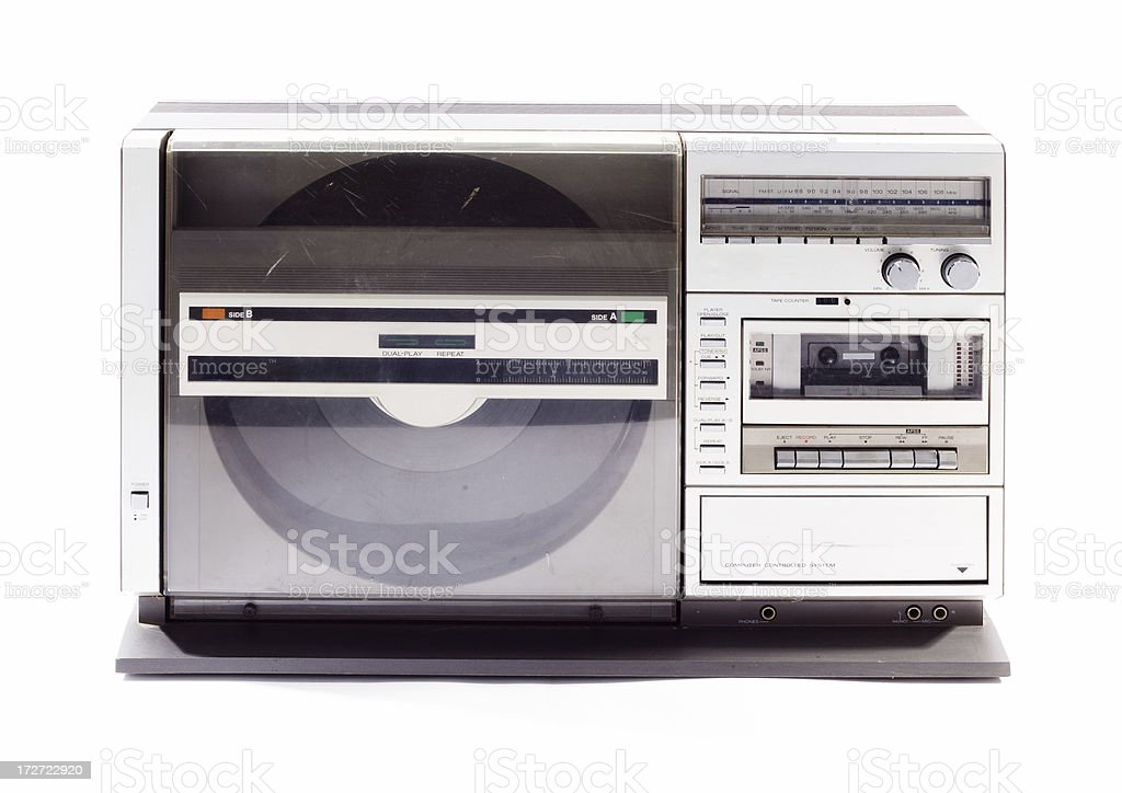 Retro Cassette Deck, Radio and Turntable royalty-free stock photo