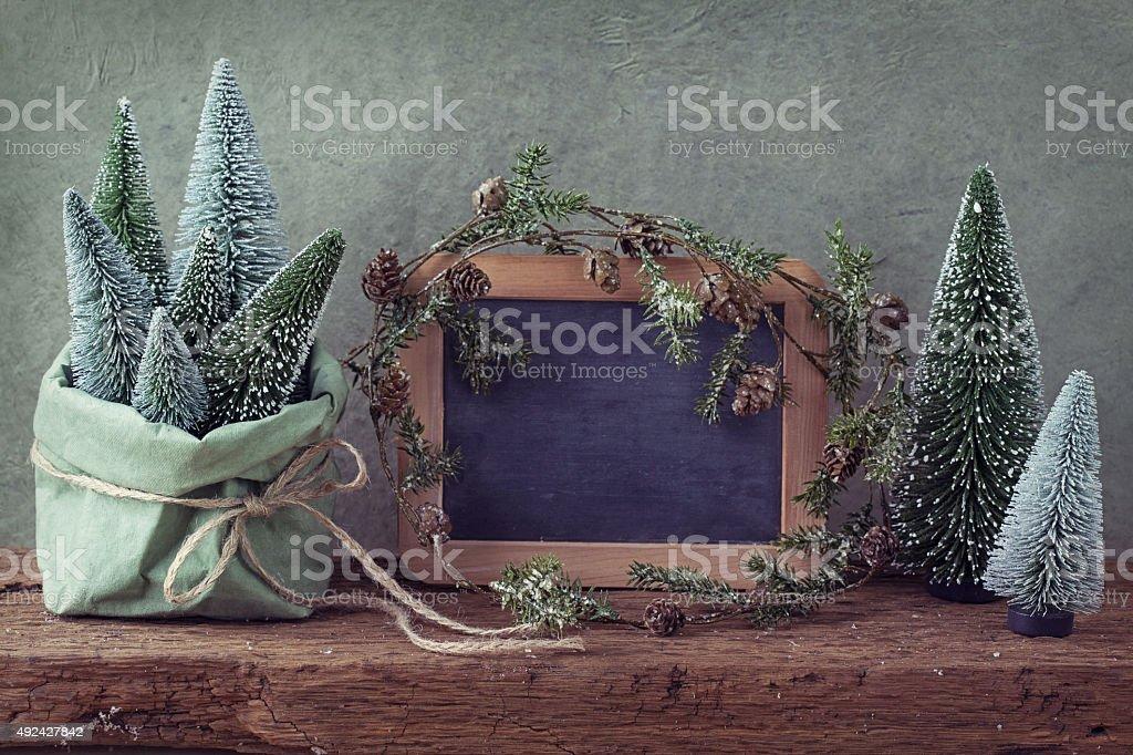 Retro christmas decoration stock photo
