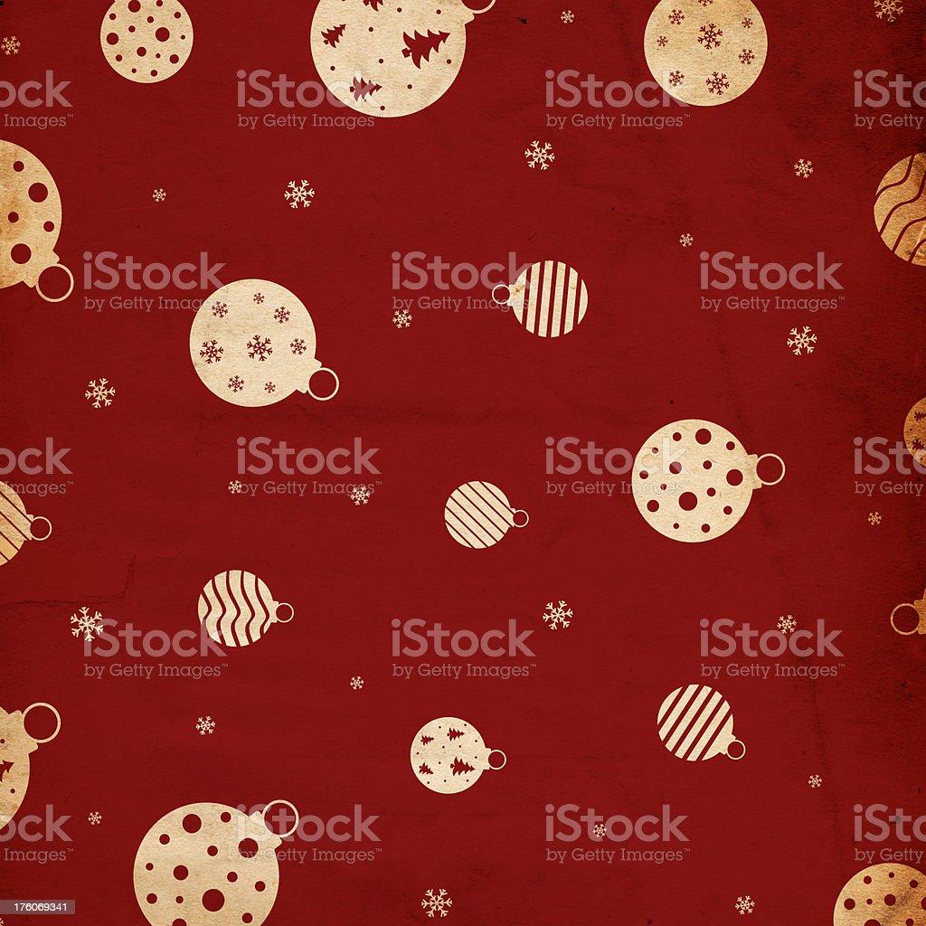 Retro Christmas Ornament Background royalty-free stock photo