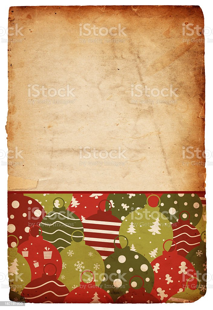 Retro Christmas Ornament Paper royalty-free stock photo