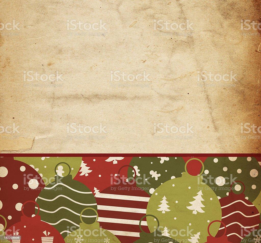 Retro Christmas Ornament Paper royalty-free stock photo