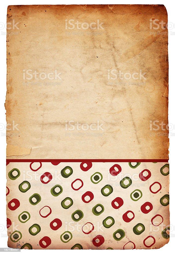 Retro Christmas Paper royalty-free stock photo