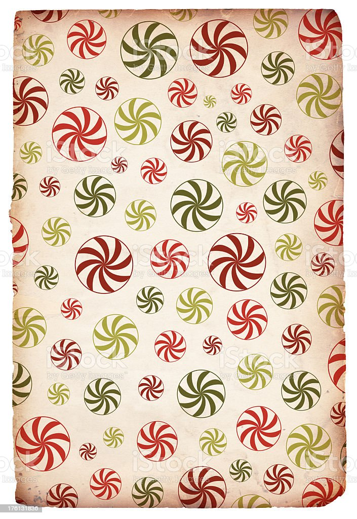 Retro Christmas Peppermint Background royalty-free stock photo