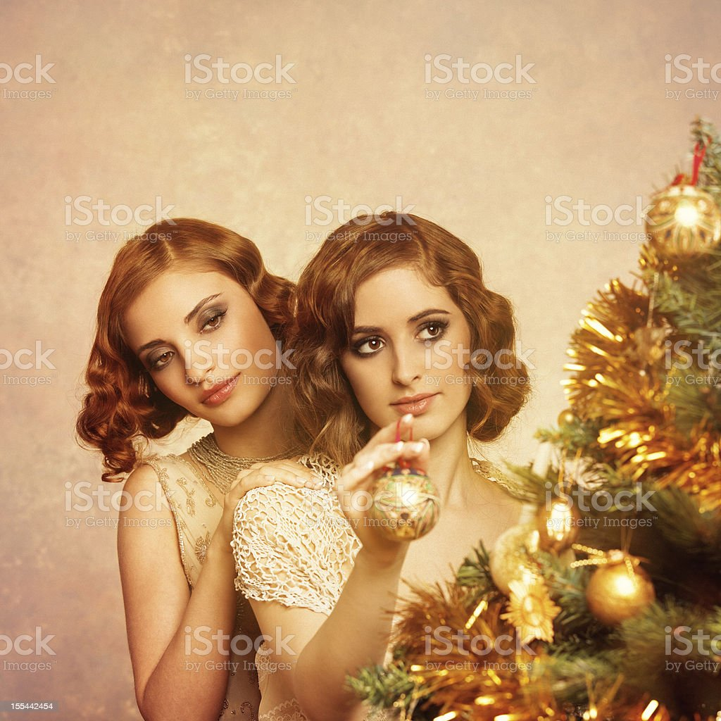 retro christmas royalty-free stock photo