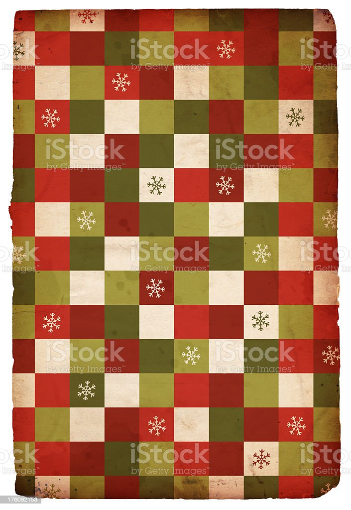 Retro Christmas Snowflake/Square Background royalty-free stock photo