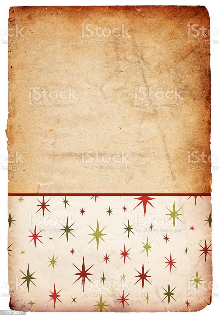 Retro Christmas Starry Background royalty-free stock photo