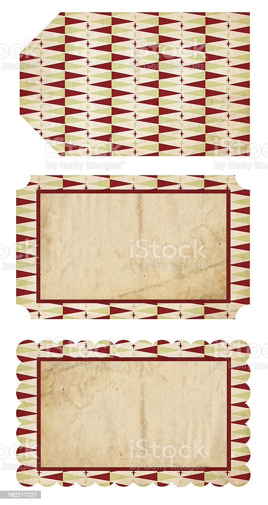 Retro Christmas Tags royalty-free stock photo