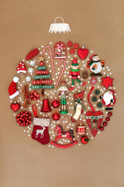 Retro Christmas Tree Decoration stock photo