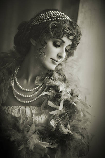 retro classic beauty - 1920s style stock photos and pictures