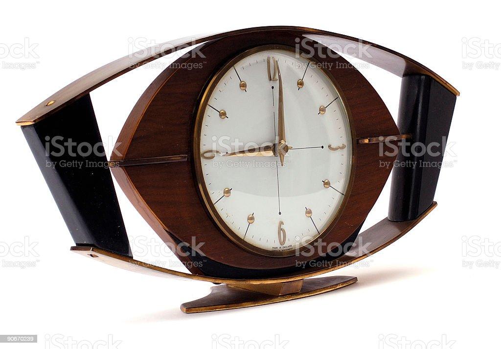 retro clock isolated white background royalty-free stock photo