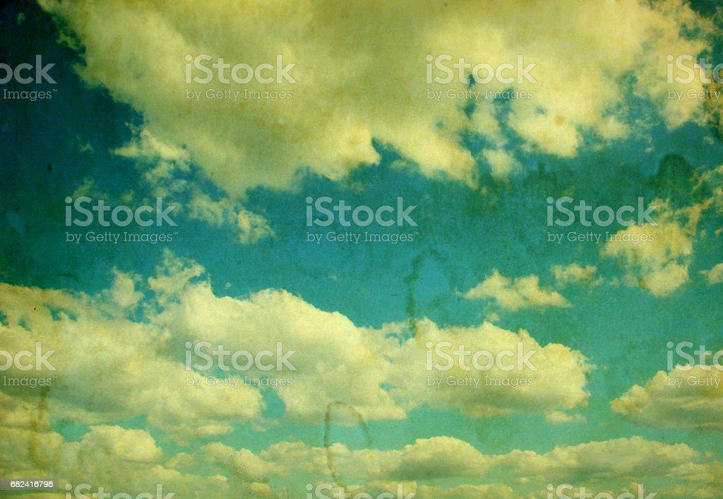 retro cloudy sky photo libre de droits