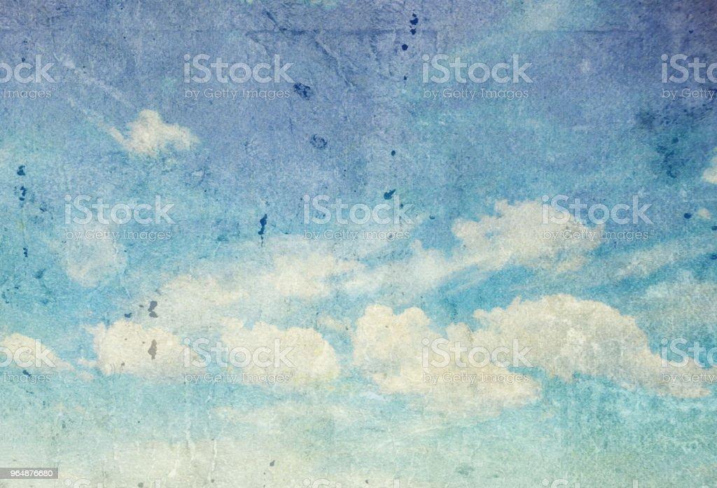 retro cloudy sky royalty-free stock photo
