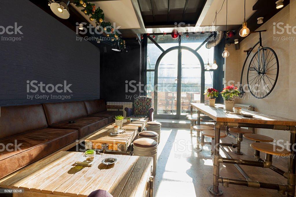 Retro Kaffee-bar innen – Foto