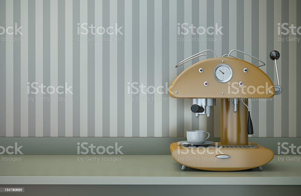 Retro-Kaffeemaschine mit Tasse – Foto