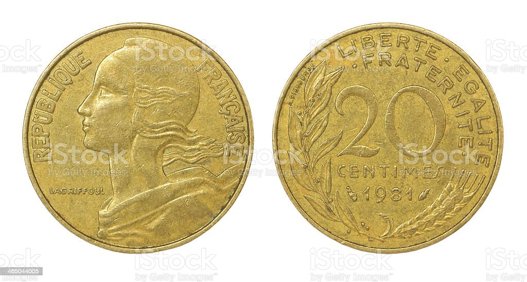 retro coin of france royalty-free stock photo