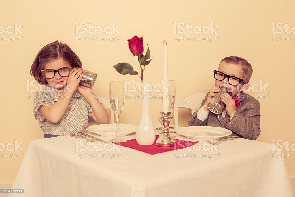 Retro Communication stock photo
