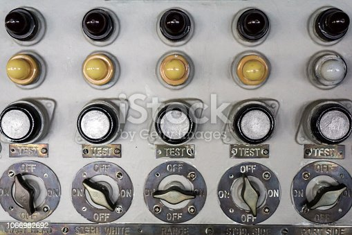 Old control panel buttons