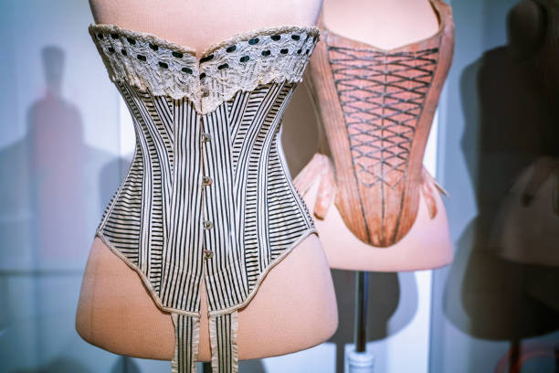 Retro corset on a tailor's dummy. Retro corset on a tailor's dummy. corset stock pictures, royalty-free photos & images