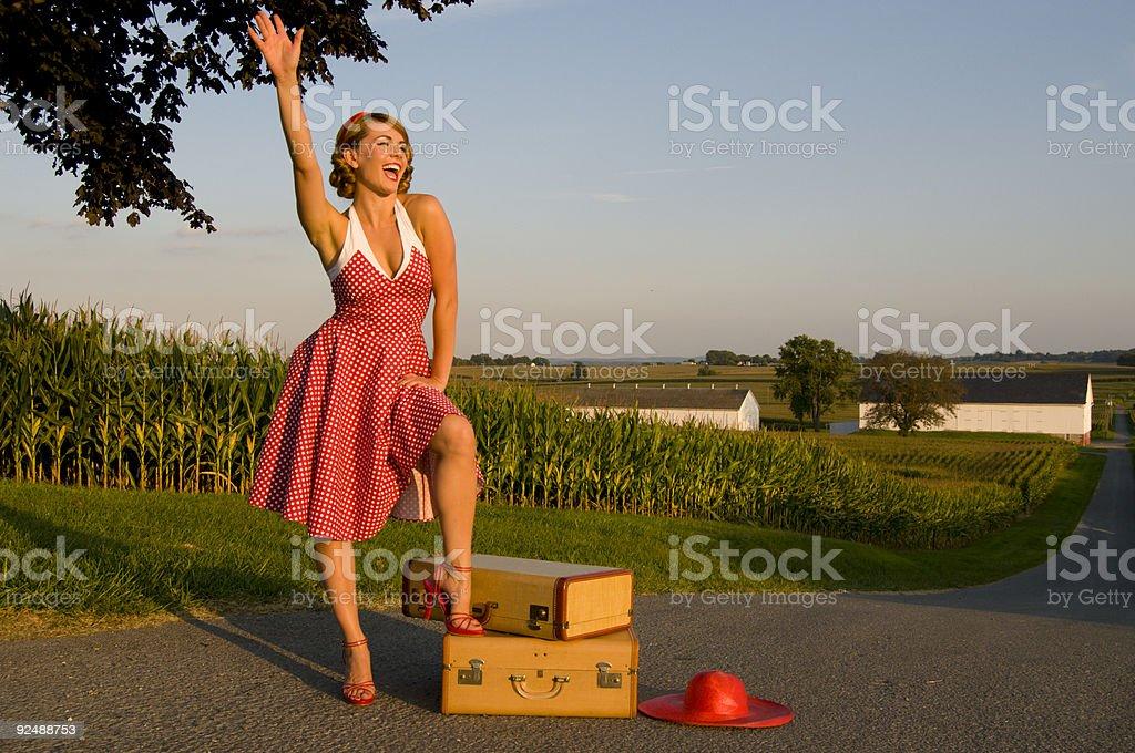 retro country girl royalty-free stock photo