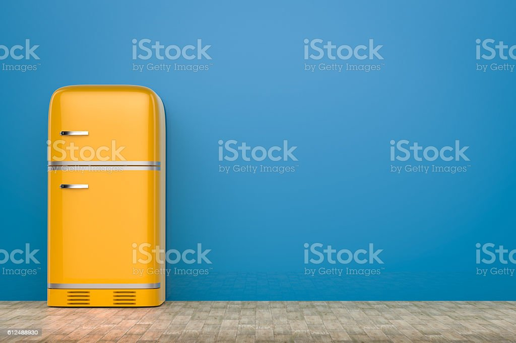 retro design fridge stock photo