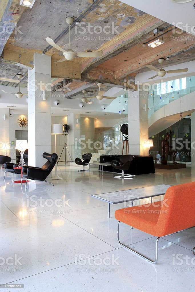 Retro Designer Lobby royalty-free stock photo