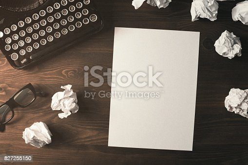istock Retro desk 827255150