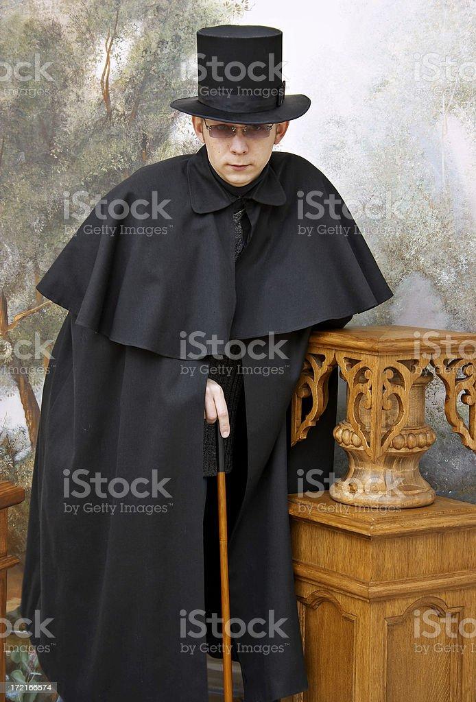 Retro detective stock photo