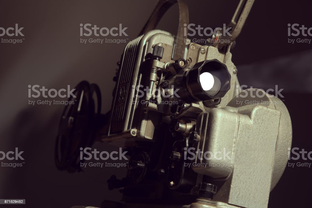 Retro device for watching movies stock photo