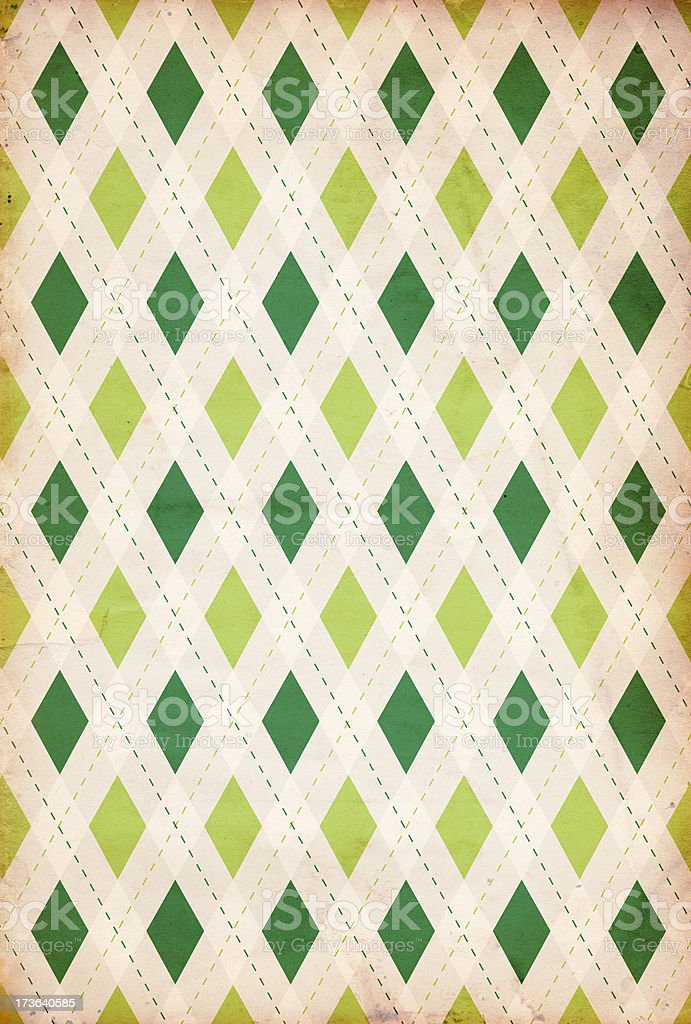 Retro Diamond St. Patrick's Background XXXL - Royalty-free Argyle Stock Photo