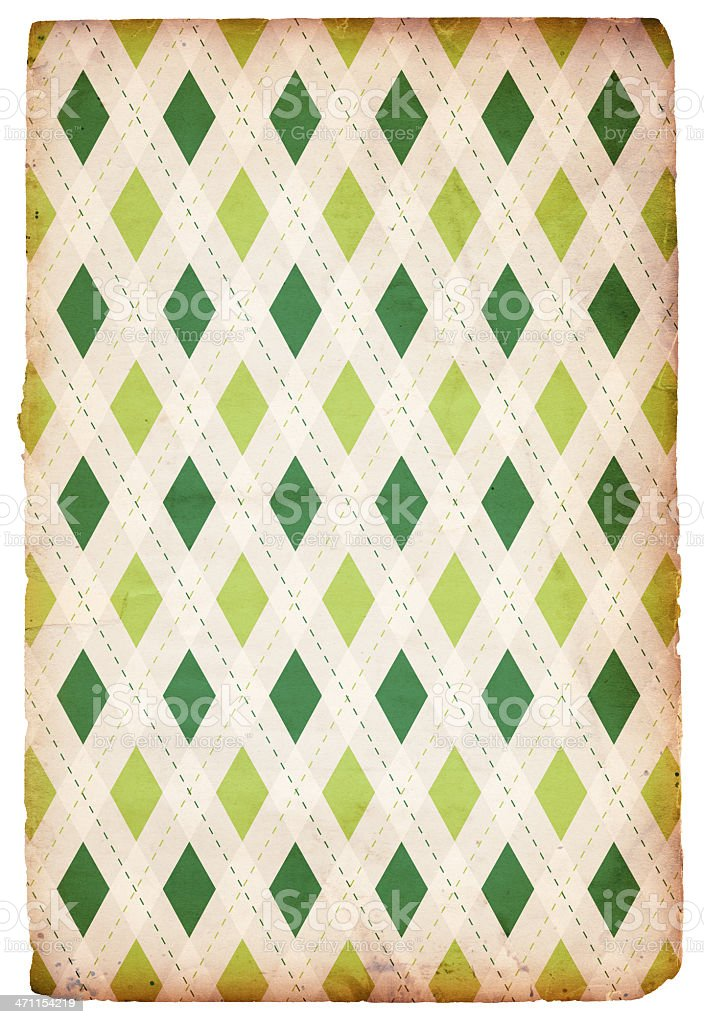 Retro Diamond St. Patrick's Background XXXL royalty-free stock photo