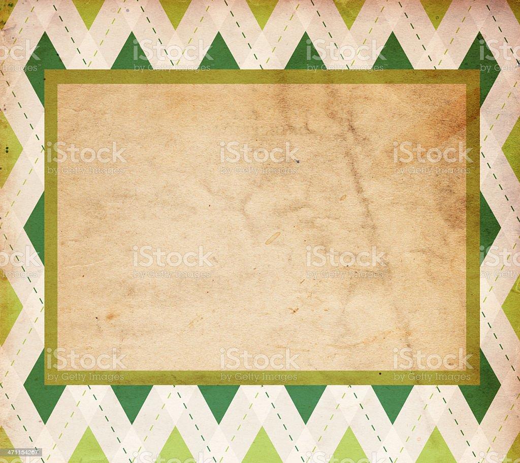 Retro Diamond St. Patrick's Background XXXL royalty-free stock photo