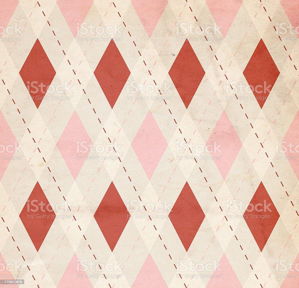 Retro Diamond-Patterned Valentine Paper XXXL royalty-free stock photo