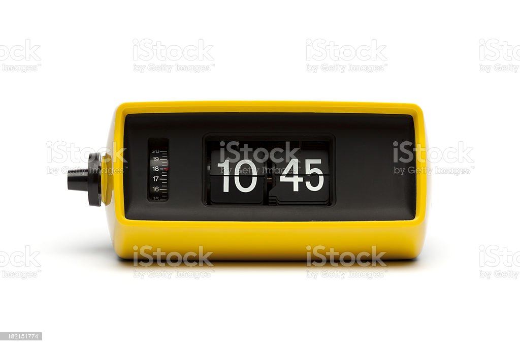 Retro digital flip clock royalty-free stock photo