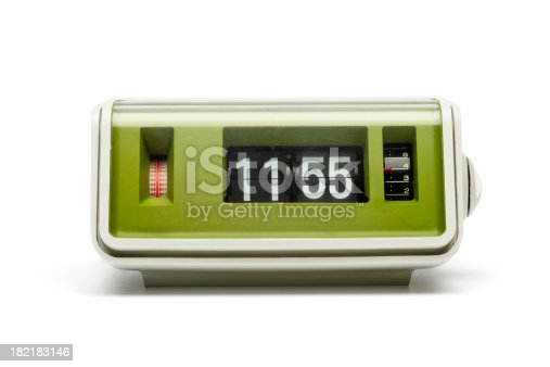 Original 70th flip clock isolated on white.More like this: