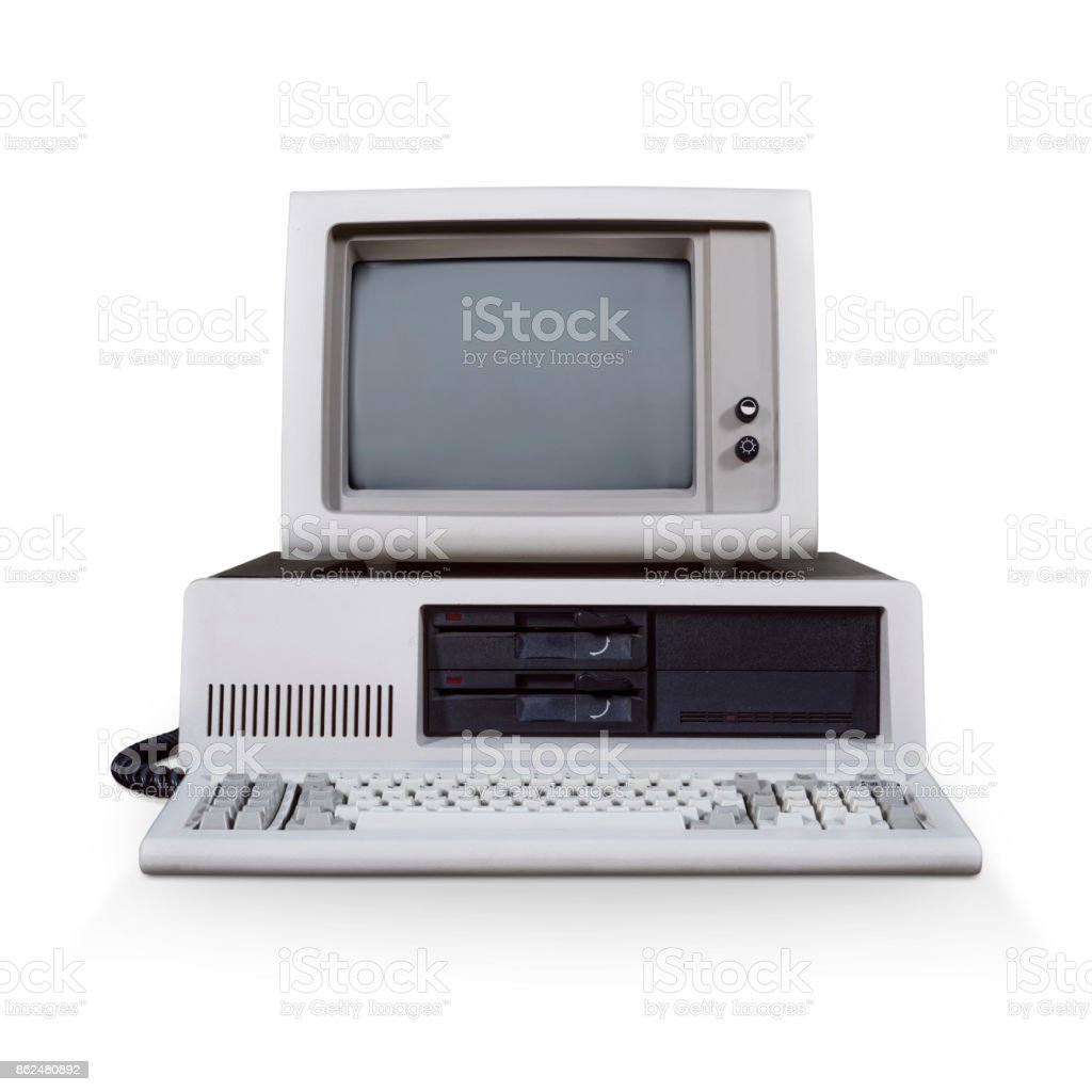 Retro DOS computer stock photo