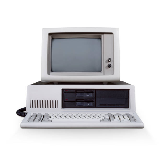 retro dos computer - the past stock photos and pictures